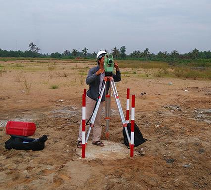 khảo sát địa hình công trình dân dụng
